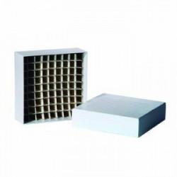 """Crio caja 2"""" carton, divisiones x81 -196°c + 121°c x100und"""