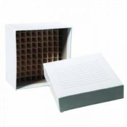 """Crio caja 3"""" carton, divisiones x81 -196°c + 121°c x100und"""